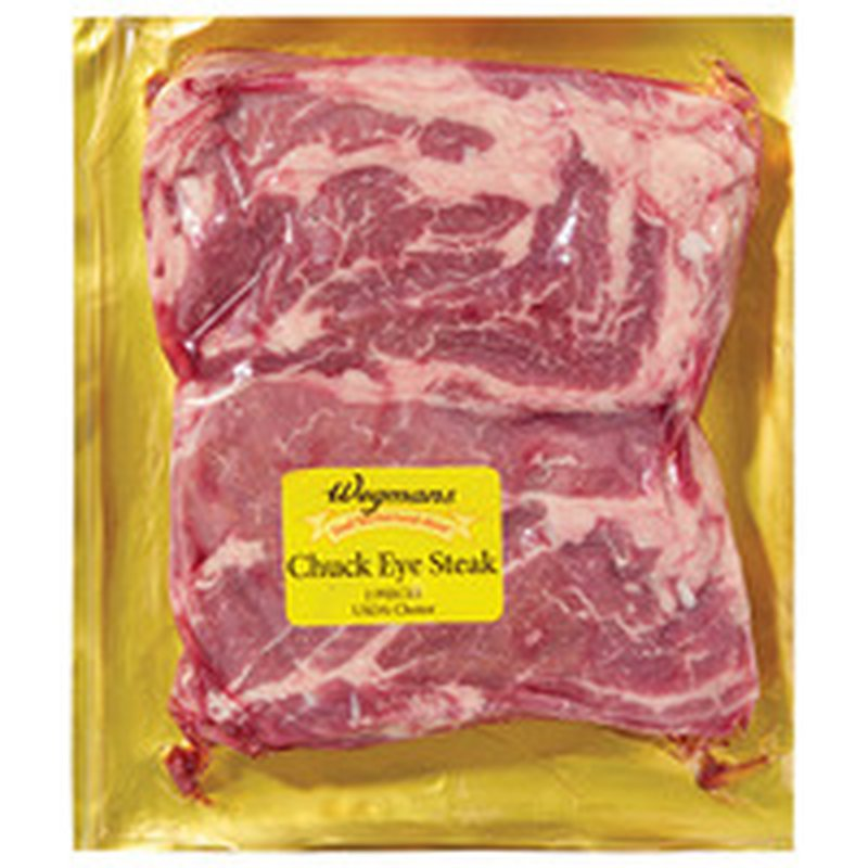 Wegmans Boneless Beef Chuck Eye of the Round Steak