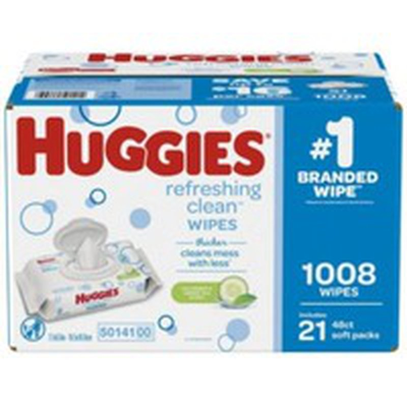 Huggies Refreshing Clean Disposable Baby Wipes Soft Pack