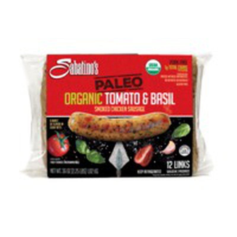 Sabatino Organic Paleo Tomato Basil Sausage