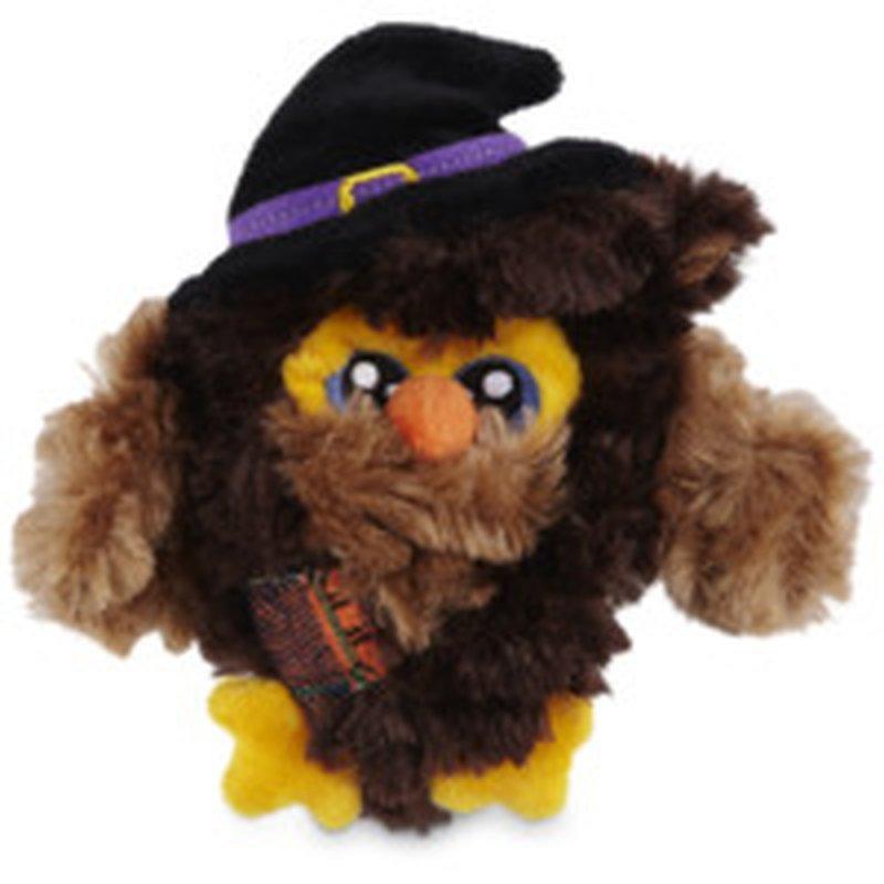 Small Halloween Owl Flattie Dog Toy