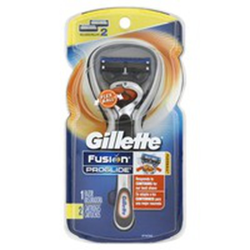 Gillette Proglide Flexball 1 Razor, 2 Cartridges