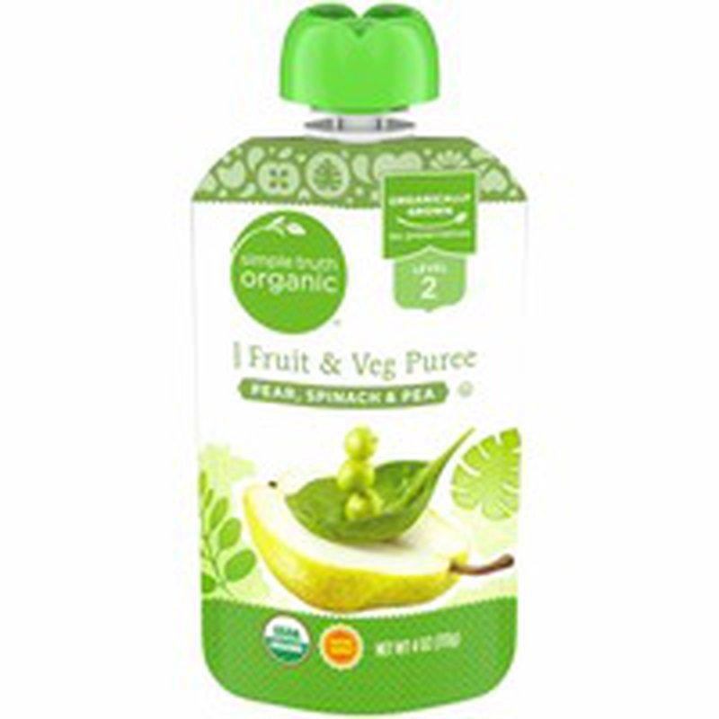 Simple Truth Organic Pear Spinach & Pea Puree