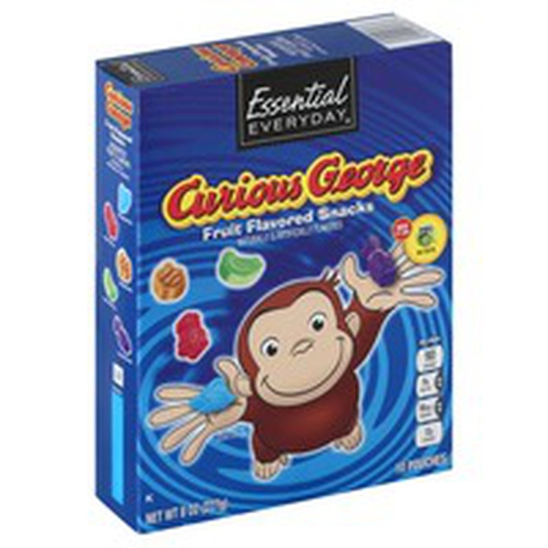 Essential Everyday Fruit Flavored Snacks, Curious George, Assorted Fruit Flavors