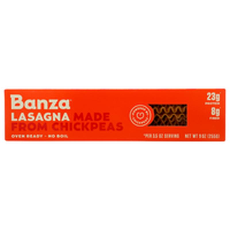 Banza Lasagna Made From Chickpeas