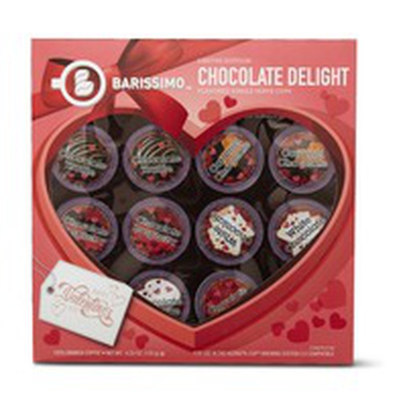 Barissimo Coffees of Valentines Chocolate Delight Flavored Single Serve Coffee Cups