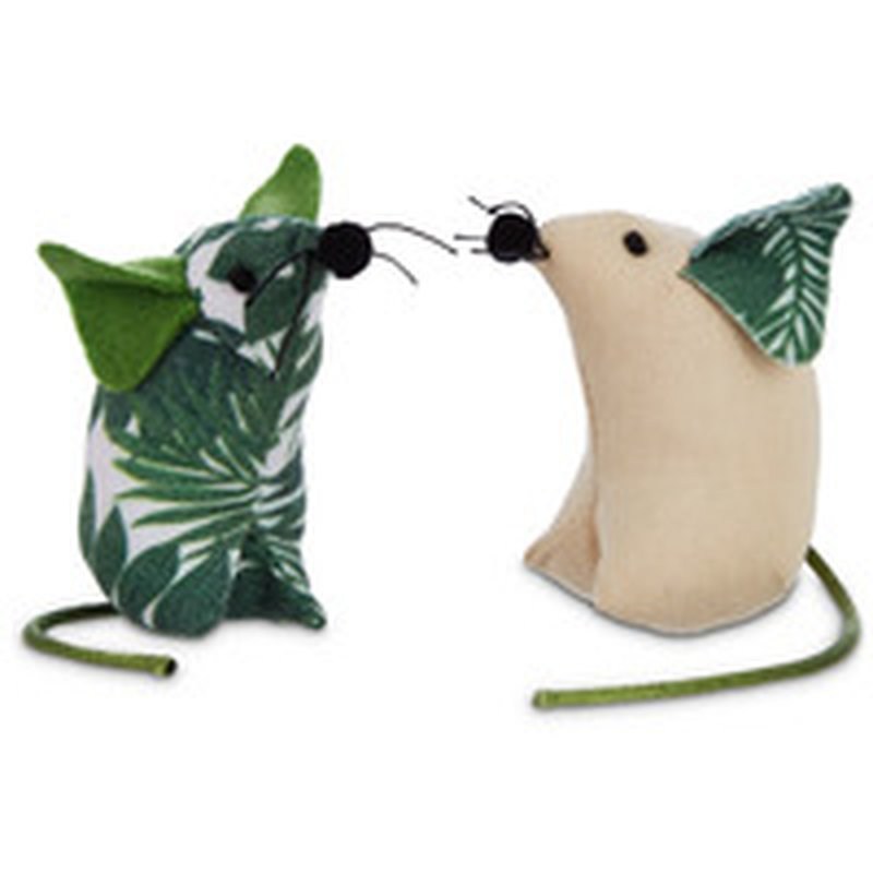Leap & Bounds  Pets on Safari Palm Print Mice Cat Teaser Toy
