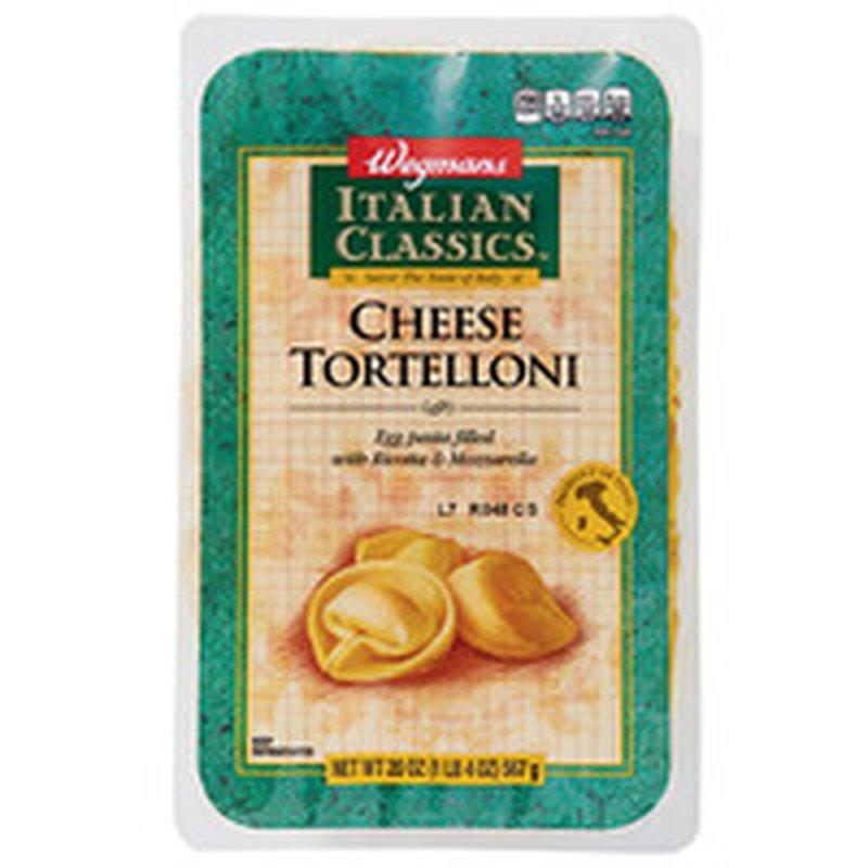 Wegmans Cheese Tortelloni Egg Pasta Filled With Ricotta & Mozzarella