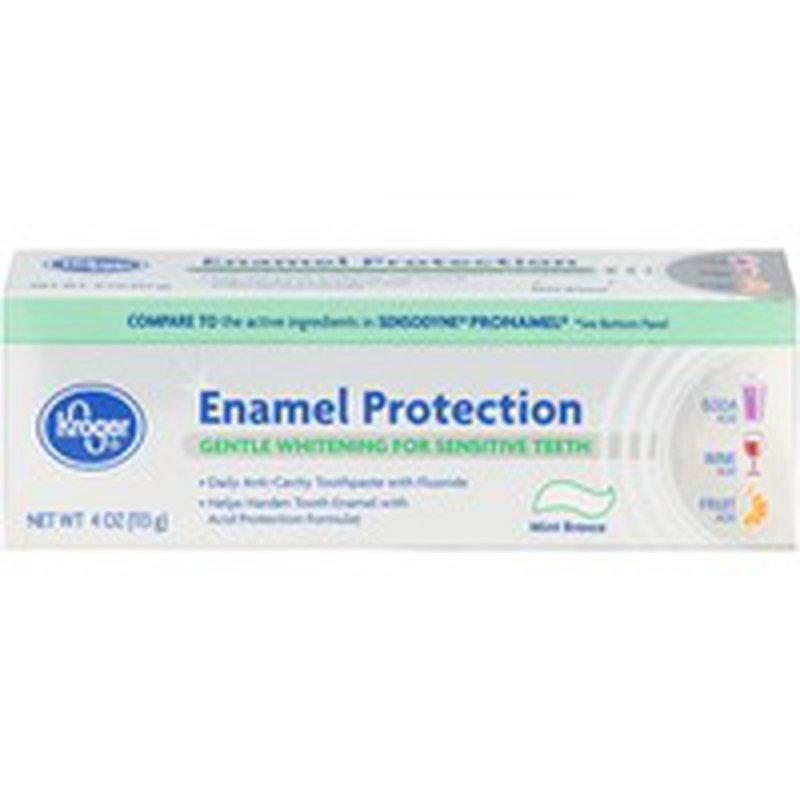 Kroger Enamel Protection Gentle Whitening For Sensitive Teeth Toothpaste, Mint Breeze