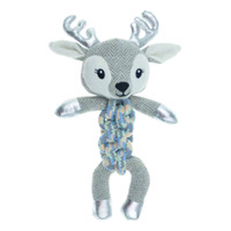 Cmp Small Deer Reflective Rope Twister Dog Toy