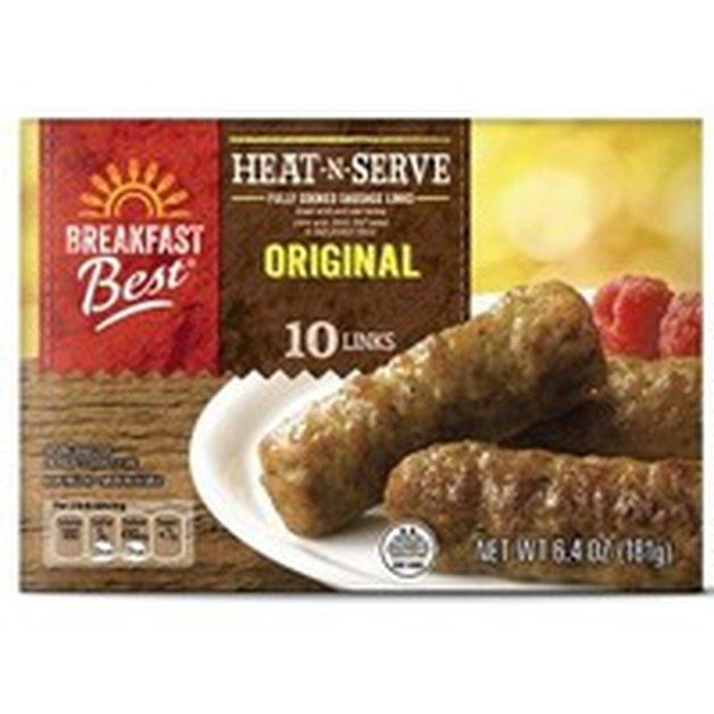 Breakfast Best Microwavable Original Heat -n- Serve Fully Cooked Sausage Links