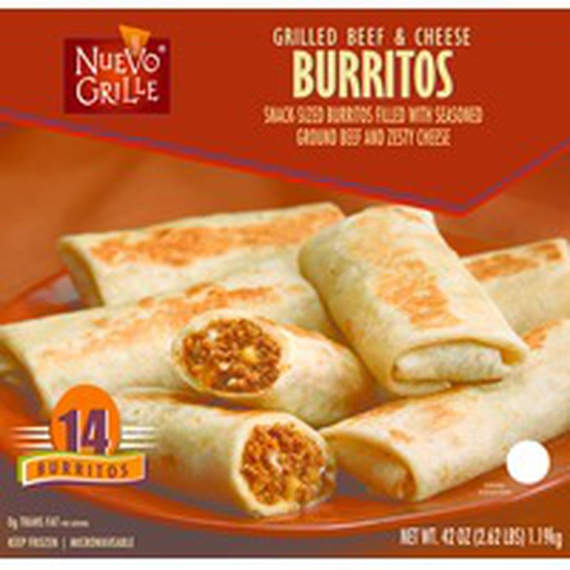 Nuevo Grille Grilled Beef & Cheese Burritos