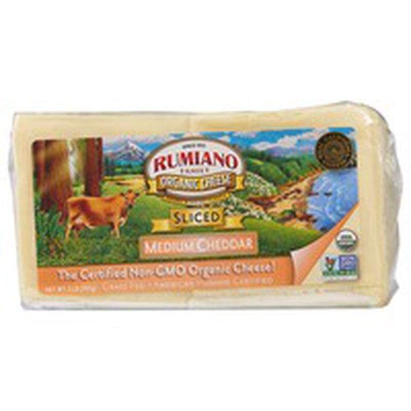 Rumiano Organic Sliced Medium Cheddar
