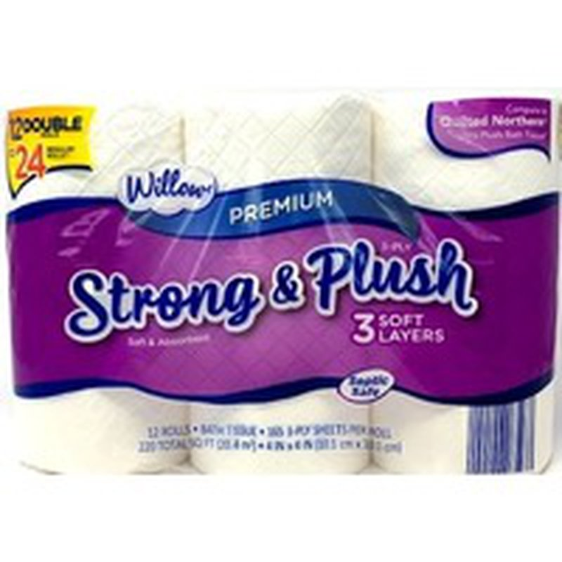 Willow Double Roll 3 Ply Bath Tissue