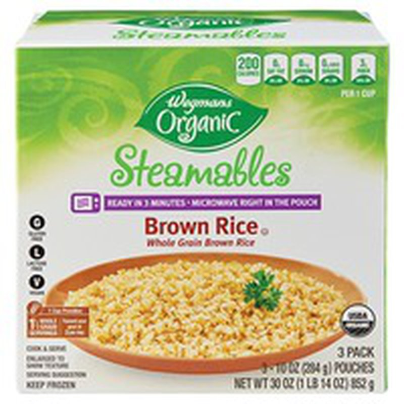 Wegmans Organic Food You Feel Good About Steamables, Brown Rice, FAMILY PACK
