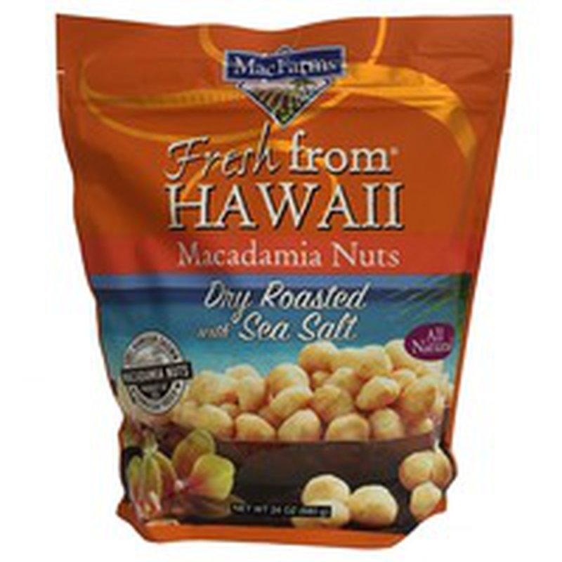 Mac Farms Dry Roasted With Sea Salt Fresh From Hawaii Macadamia Nuts
