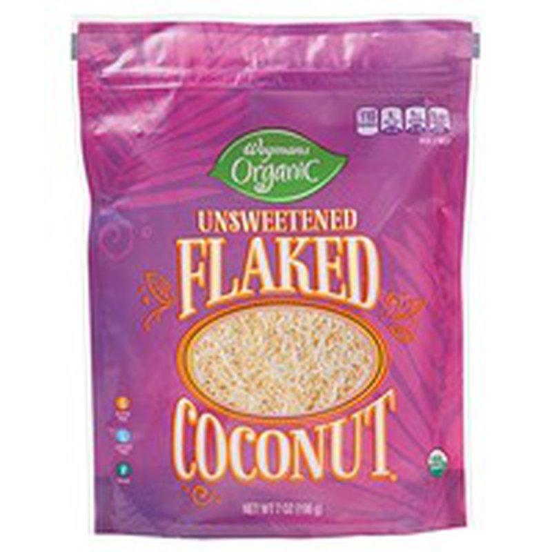 Wegmans Organic Coconut, Unsweetened, Flaked
