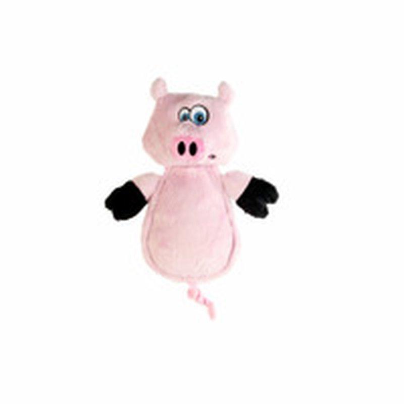 Hear Doggy Chew Guard Flattie Pig Toy With Ultrasound