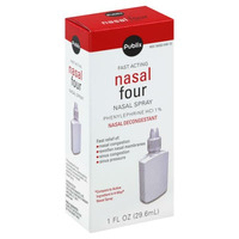 Publix Fast Acting Nasal Four Nasal Spray Decongestant