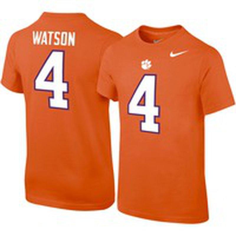 Nike Youth Deshaun Watson Clemson Tigers #4 Orange College Alumni ...