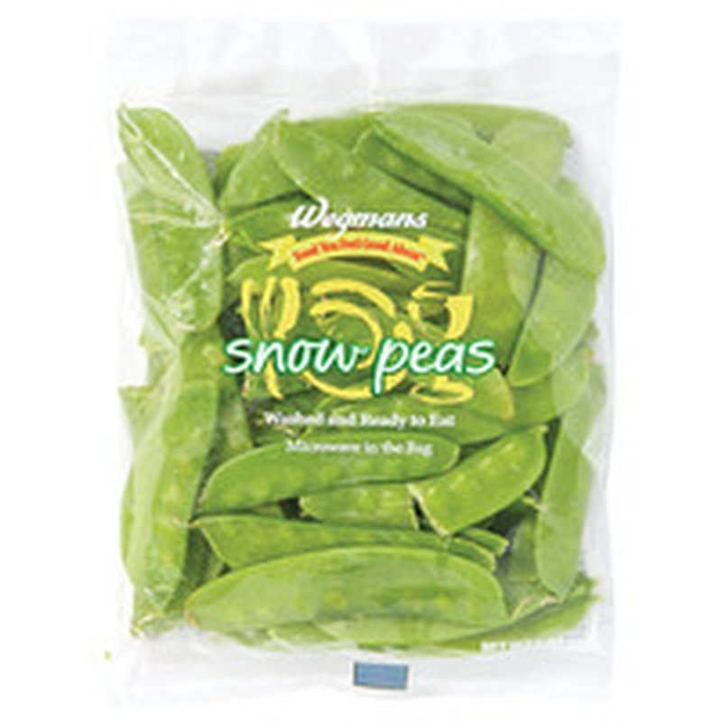 Wegmans Food You Feel Good About Cleaned and Cut Triple Washed Snow Peas