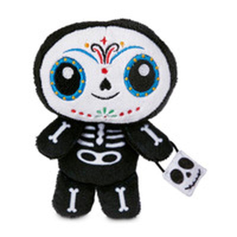 "6"" Halloween Skeleton Flattie Dog Toy"