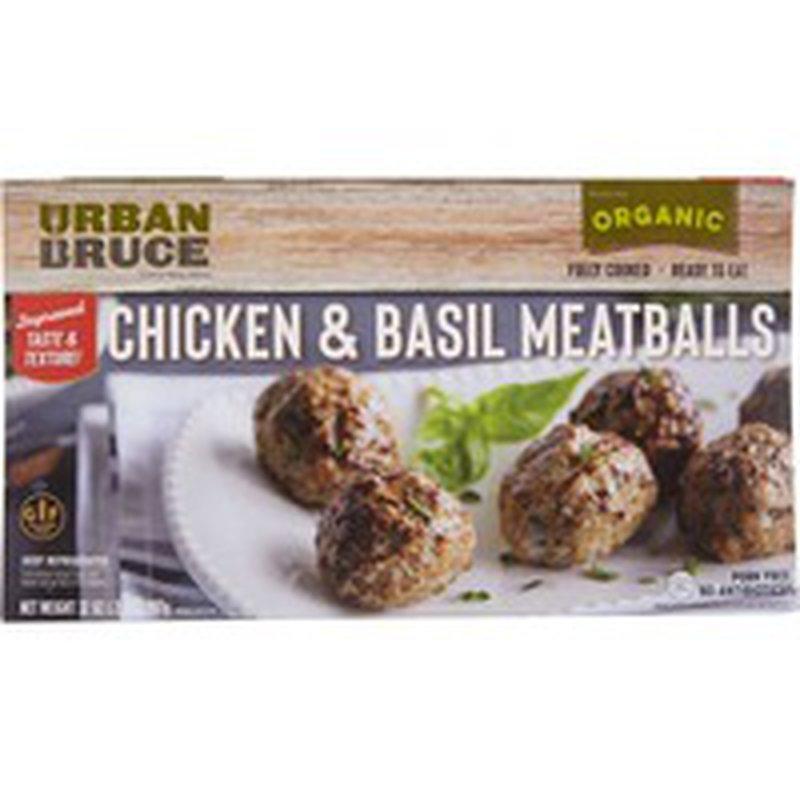Urban Bruce Organic Chicken & Basil Meatballs