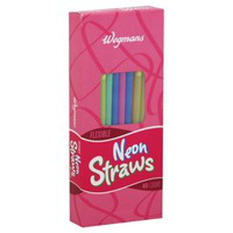 Wegmans Flexible Neon Straws