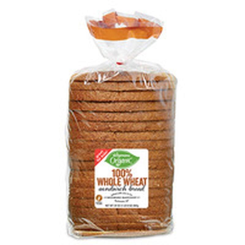 Wegmans Organic 100% Whole Wheat Sandwich Bread