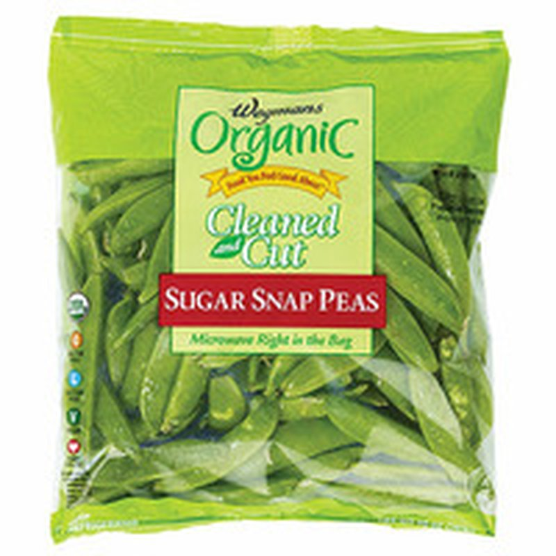 Wegmans Organic Food You Feel Good About Cleaned and Cut Sugar Snap Peas
