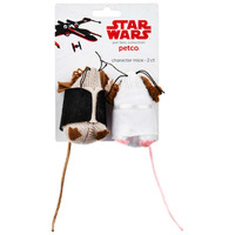 Star Wars Han Solo And Princess Leia Mice Cat Toys Pack Of 2 Toys