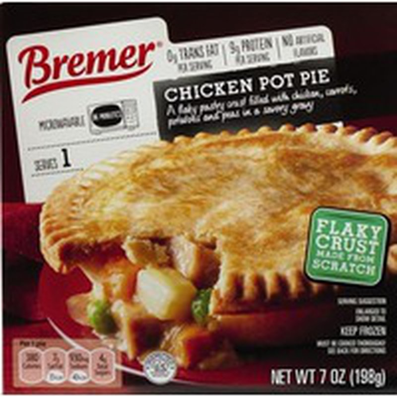 Bremer Chicken Pot Pie A Flaky Pastry Crust Filled With Chicken, Carrots, Potatoes And Peas In A Savory Gravy