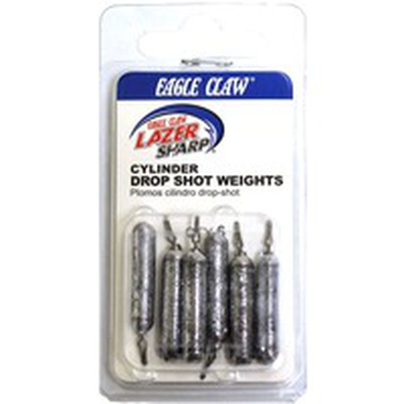 Lazer Sharp Drop Shot Weight Lead Cylinder Style